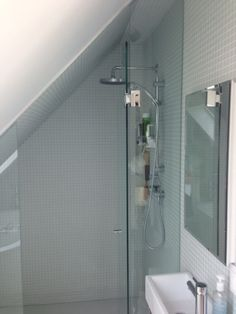 Clever use of space for a shower.