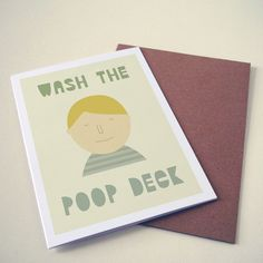 Wash the poop deck card by hole in my pocket on Etsy $4.83