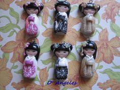 Geiko-Doll minis, de aproximadamente tres centímetros, ideales para colgantes, adornos para movil, llaveros....