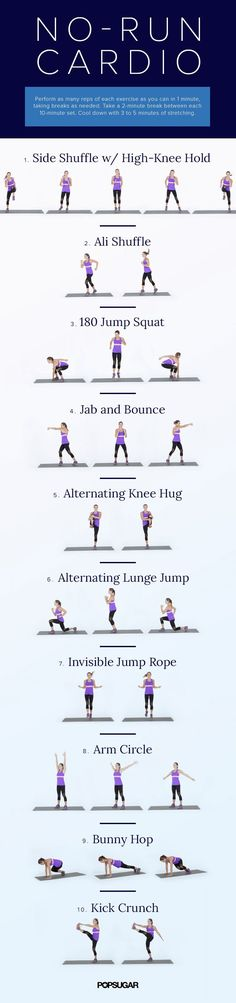 If you hate running outside but still want to get your daily dose of cardio in, this at-home workout was made for you. Do it in the comfort of your own home!