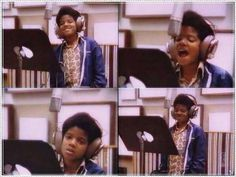 Michael Jackson at the recording studio - Jackson 5 Era Jackson Family, Jackson 5, Young Michael Jackson, I Fall In Love, My Love, Jackson Music, King Of Music, The Jacksons, Any Music