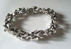 STARS mens bracelet, silver 925, 150g