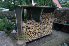 Easy and Creative DIY Firewood Rack and Storage Ideas tag: outdoor firewood rack ideas, firewood storage rack ideas, indoor firewood rack ideas, firewood rack cover diy, ideas for firewood rack. Indoor Firewood Rack, Firewood Holder, Firewood Storage, Shed Storage, Storage Ideas, Storage Racks, Storage Solutions, Stacking Wood, Storage Building Plans