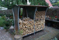 Firewood Storage Racks - Woodstocker rack by Harrie Leenders