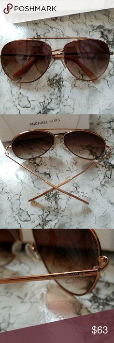 Michael kors sunglasses Rose gold frame, brown gradient lens, aviator Michael Kors Accessories Sunglasses