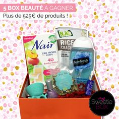 MYSWEETIEBOX - 5 box beauté à gagner 5 Box, Anti Stress, Nail Art, Nails, Quizzes, I Win, Drinks, Projects To Try, Cooking Food