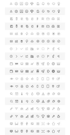 Free Wireframe Icons on Behance