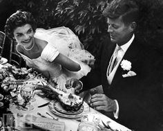 John & Jacqueline at the table - Lisa Larsen/Time & Life Pictures/Getty Images  Sep 12, 1953