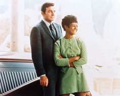 MANNIX 8X10 PHOTO GAIL FISHER MIKE CONNORS RARE POSE