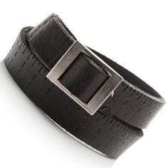 7257013c9f80 R B Bijoux - Bracelet de Force Homme - Style Urbain Boucle Ceinture de  Poignet - Manchette Large Cuir (Noir)  Amazon.fr  Bijoux