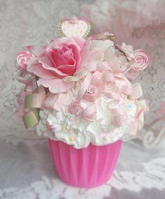 Birthday cupcakes for boyfriend love valentines day 18 New Ideas Fake Cupcakes, Fake Cake, Wedding Cakes With Cupcakes, Tea Party Birthday, Birthday Cupcakes, Birthday Ideas, Happy Birthday, Cupcake Soap, Cupcake Cookies