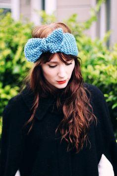 Oversized Bow Crochet Ear Warmer Headband - Bow Crochet Ear Warmer Headband For Women