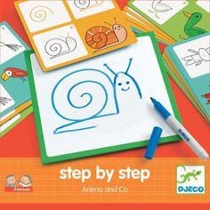 Djeco dieren leren tekenen stap voor stap