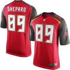 Men's Tampa Bay Buccaneers #89 Russell Shepard Red Team Color NFL Nike Elite Jersey