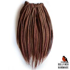 Wool dreadlocks woolen brown dreads dreads by BullfinchHandmade #brownwoolies #wooldreads #woolies #wooldreadlocks #dreadlocks #dreads