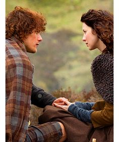 """Jamie: """"I dinnae wish to… I dinnae mean to imply that ye have some vast knowledge of men, but, well, you know more than I do about such matters."""" Claire: """"Out with it."""" Jamie: """"Is it it usual? What it is between us when I touch you, when you lie with me? Is it always so between a man and a woman?"""" 