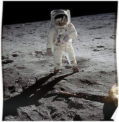 Posters Footprints On The Moon Original Apollo 11 Rare Poster Nasa Program