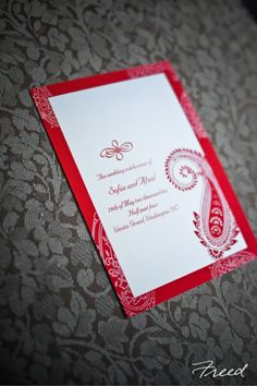 Red Invite - I like the decorations, could use a different color