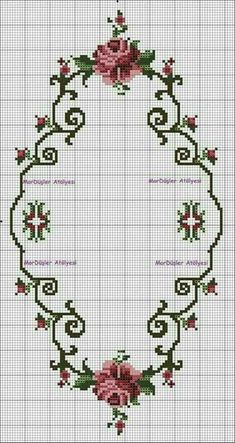This post was discovered by ne Cross Stitch Borders, Cross Stitch Rose, Cross Stitch Flowers, Modern Cross Stitch, Cross Stitch Charts, Cross Stitch Designs, Cross Stitching, Cross Stitch Patterns, Hardanger Embroidery