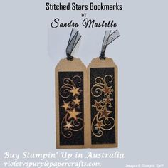 Bookmarks, Stitch, Stars, Paper Crafts, Sparkle, Holiday, Full Stop, Vacations, Tissue Paper Crafts