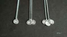 Sterling Silver Initial Necklace  Personalized Hand by PiggyStudio, $18.00
