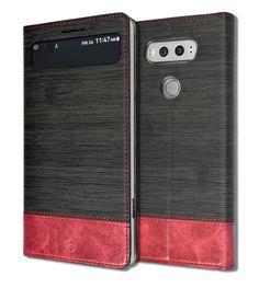 LG V20 ORBIT FLEX Quick Window View Flip Standing Wallet Slim Leather F800 Black #good2Box