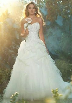 Alfred Angelo Princess (Aurora) dress. Designed in partner with disney! I love Alfred Angelo then add Disney? YES PLEASE!