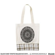 BLACK AND WHITE KALEIDOSCOPIC GEOMETRIC MANDALA