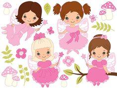 BUY 1 GET 2 FREE  Fairy Clipart  Digital Vector Fairy by TanitaArt