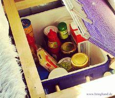Normale Kühlbox im Camperbus  #Kühlbox