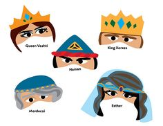 Free printable Purim masks.