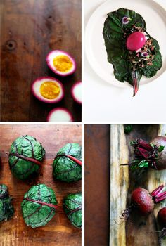 Beet Pickled Egg and Chard Empanadas with Black Sesame. I'm pretty sure I would eat these all day long.
