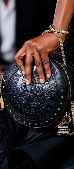 89d2b43906 Balmain SS18 RTW Details Balmain Bag, Balmain Shoes, High End Handbags,  Haute Couture