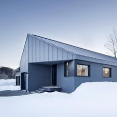 Naturehumaine's steel-clad Sorel House  designed to stand out from its neighbours