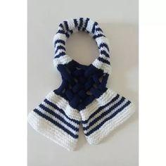 Cachecol - Lã - Feminino - Tricô - Crochê - Feito A Mão C:4c - R$ 25,00