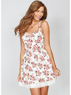 Pair this dress with some cowboy boots for a cute country look.
