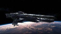 Paladin Battleship Model in Fantasy Spacecraft Spaceship Art, Spaceship Design, Concept Ships, Concept Art, Science Fiction, Edge Of The Empire, Sci Fi Anime, Starship Concept, Sci Fi Spaceships