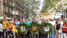 Una entidad subvencionada por Puigdemont fleta autobuses desde Valencia para acudir a la Diada