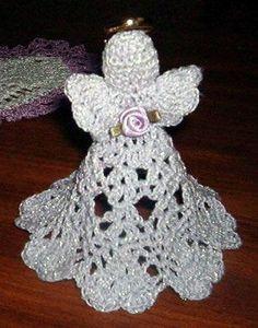 """Képtalálat a következőre: """"crochet angel ornament pattern free"""" Crochet Ornament Patterns, Crochet Angel Pattern, Crochet Angels, Crochet Ornaments, Christmas Crochet Patterns, Holiday Crochet, Crochet Snowflakes, Crochet Cross, Doily Patterns"""