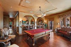 Billiards room and bar.   Grey Oaks, Naples, Florida