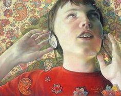 "Daily+Paintworks+-+""Listening+to+Maynard+Ferguson""+-+Original+Fine+Art+for+Sale+-+©+emily+Christoff-Flowers"