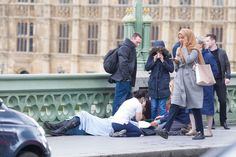 A woman in a headscarf passes the scene of the terrorist attack on Westminster Bridge in March. Russia-run accounts tried to stir anti-Islamic sentiment by falsely claiming she had ignored victims. Right Meme, Donald Trump, Moslem, Westminster Bridge, People Running, London Bridge, London Photos, Walking By, London