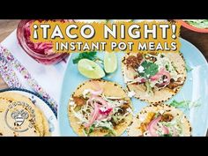 EPIC TACO NIGHT in 1 HOUR - Instant Pot CARNITAS 🌮 - Also, quick pickled red onions.  YouTube