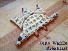 Fun Breakfast for Kids | Dinosaur Waffles (Low Carb Waffles Sugar)