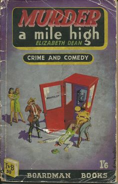 Murder a Mile High Elizabeth Dean TV Boardman 50 1948 Denis McLoughlin cover art