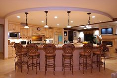 Kitchen:Beautiful Kitchen Design Idea Traditional Style Of Design Ideas In Kitchen Room With Pendant Lamp Also Recessed Light And Stools Also Island And Cabinetry With Antique White Color Also Marble Flooring Tile