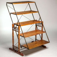 For Sale on - Antique combination table that transforms from a table to a tilted library shelf. Library Shelves, Ladder Bookcase, Convertible Furniture, Table Shelves, Home And Living, A Table, Repurposed, Home Furniture, Kitchen Decor