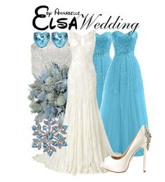 """Elsa - Wedding"" by annabelle-95 ❤ liked on Polyvore featuring Wallis, Phase Eight, Badgley Mischka and Betsey Johnson"
