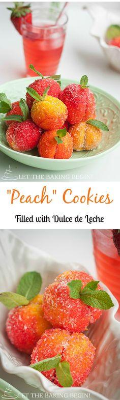 Dulce de Leche stuffed Peach Cookies | LetTheBakignBeginBlog.com | @Letthebakingbgn