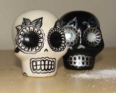 Dia los Muertos Salt & Pepper Shakers by wengergirl on Etsy, $28.00